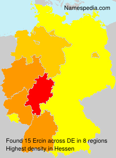 Surname Ercin in Germany