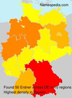 Surname Erdner in Germany