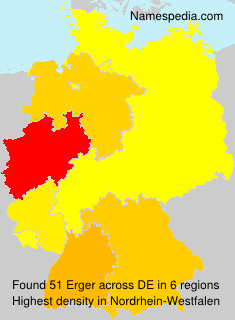 Surname Erger in Germany