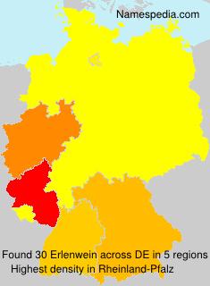 Surname Erlenwein in Germany