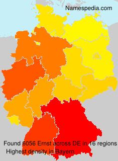 Familiennamen Ernst - Germany