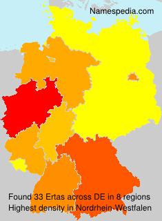 Surname Ertas in Germany