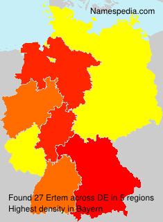 Surname Ertem in Germany