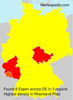 Surname Espen in Germany