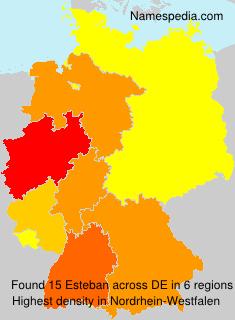 Familiennamen Esteban - Germany