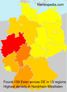 Surname Ester in Germany
