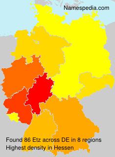 Surname Etz in Germany
