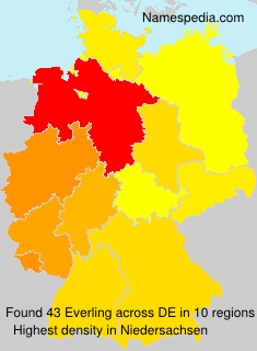 Surname Everling in Germany
