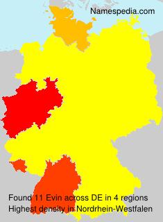 Familiennamen Evin - Germany