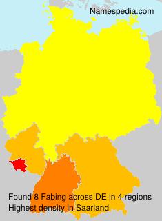 Familiennamen Fabing - Germany