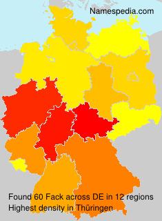 Surname Fack in Germany