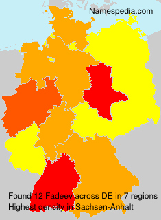 Surname Fadeev in Germany
