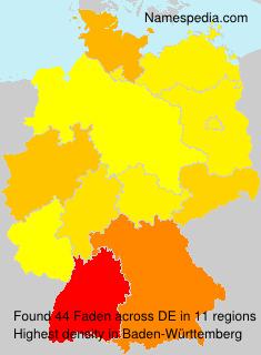 Familiennamen Faden - Germany