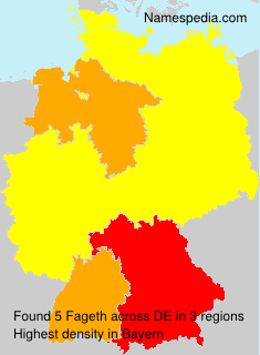 Surname Fageth in Germany
