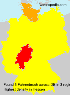 Surname Fahrenbruch in Germany