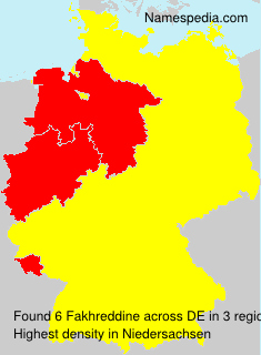 Surname Fakhreddine in Germany