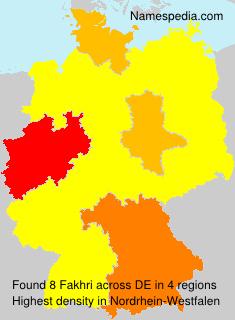 Familiennamen Fakhri - Germany