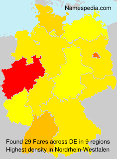 Surname Fares in Germany