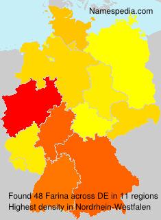Surname Farina in Germany