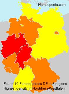 Familiennamen Farooq - Germany