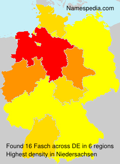 Surname Fasch in Germany