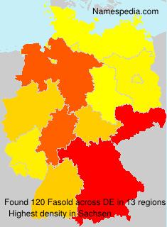 Familiennamen Fasold - Germany