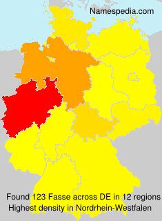 Surname Fasse in Germany