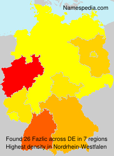 Surname Fazlic in Germany