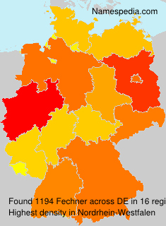 Surname Fechner in Germany