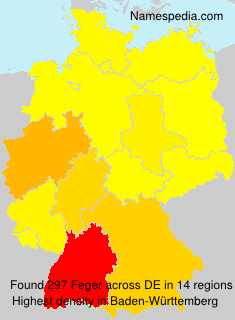 Surname Feger in Germany