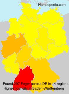 Familiennamen Feger - Germany
