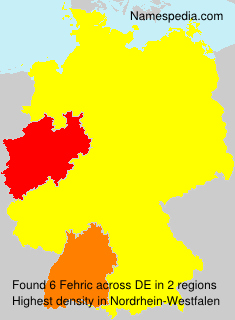 Familiennamen Fehric - Germany
