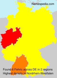 Familiennamen Fehric - Germany
