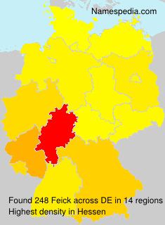 Familiennamen Feick - Germany