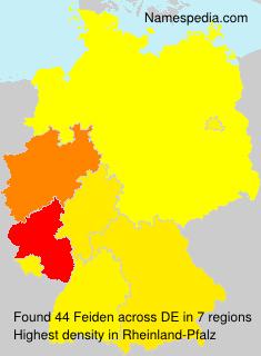 Surname Feiden in Germany