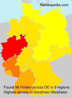 Surname Felden in Germany