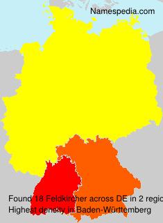 Surname Feldkircher in Germany