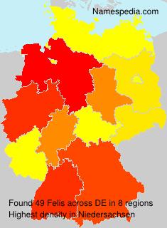 Familiennamen Felis - Germany