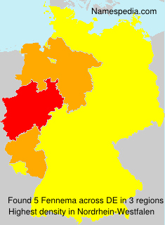 Surname Fennema in Germany