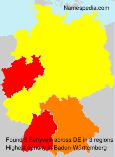 Surname Fenyvesi in Germany