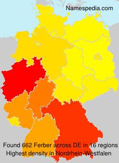 Familiennamen Ferber - Germany