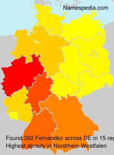 Familiennamen Fernandez - Germany