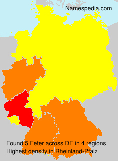 Surname Feter in Germany