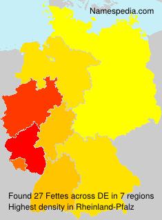 Familiennamen Fettes - Germany