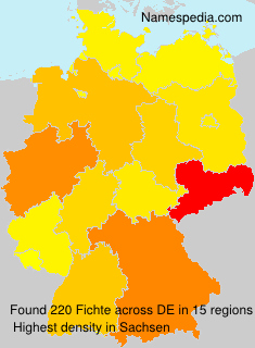 Surname Fichte in Germany