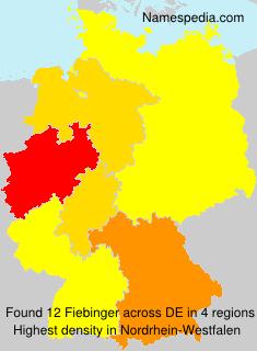Familiennamen Fiebinger - Germany