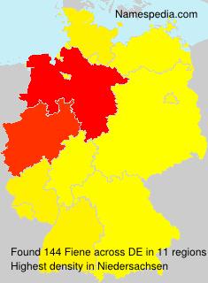 Surname Fiene in Germany