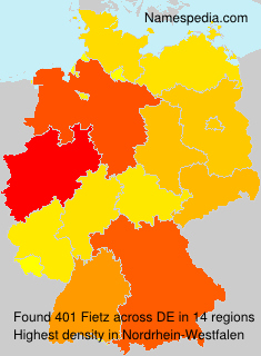 Surname Fietz in Germany