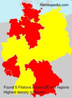 Familiennamen Filatova - Germany