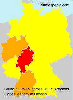 Familiennamen Fimiani - Germany